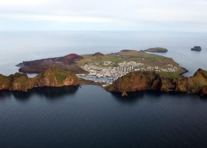 Westman Islands seen from above - Vestmannaeyjar - Heimaey