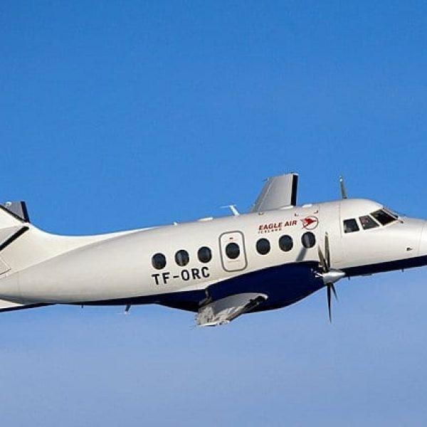 Flight to Vestmannaeyjar